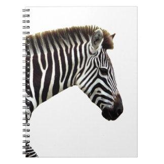 zebra-on-the-masai-mara spiral notebook