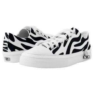 Zebra One Custom Zipz Low Top Kickers