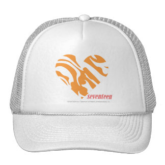 Zebra Orange 2 Trucker Hats