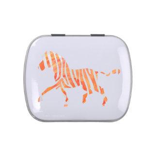 Zebra Orange and White Silhouette
