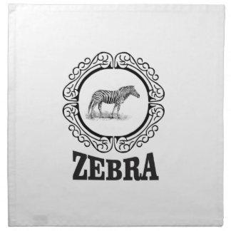 zebra party napkin