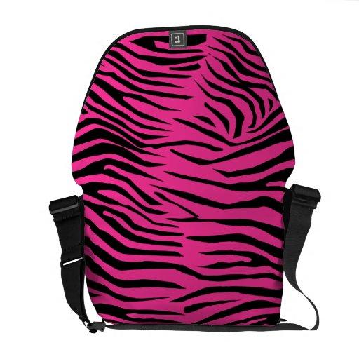 Zebra Pattern Messenger Bags