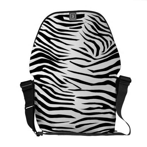 Zebra Pattern Commuter Bag