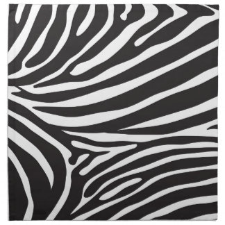 Zebra pattern, modern zebra print black and white napkin