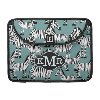 Zebra Pattern | Monogram Sleeves For MacBook Pro