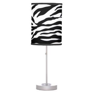 Zebra Pattern Print Table Lamp