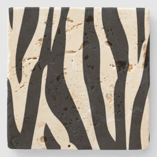 Zebra Pattern Stone Coaster
