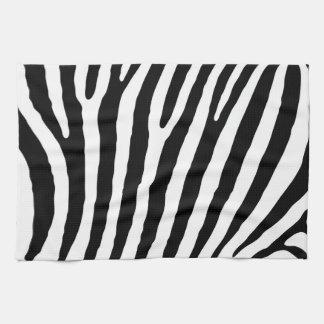 Zebra pattern towel