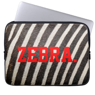 "ZEBRA Patterned Laptop Sleeve 13"" (ZebraSkin)"