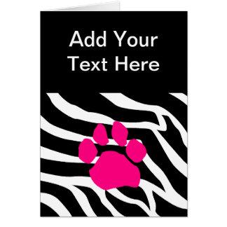 Zebra Paw Print Card