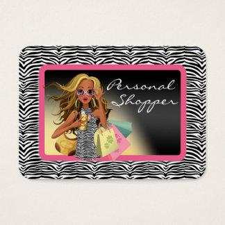 Zebra Personal Shopper Chubby Business Card