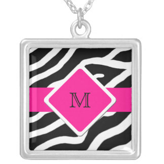 Zebra Personalized Monogram Initial Necklace