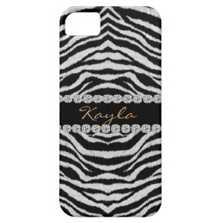 ZEBRA PERSONLIZED BLING  I phone 5 CASE Case For The iPhone 5