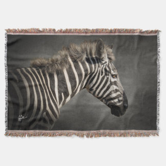 Zebra Photo Art Animal Print Chic Unique Throw Blanket
