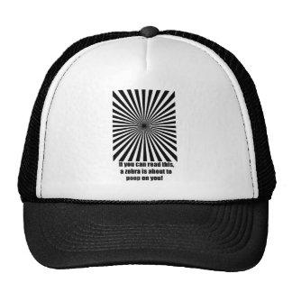 zebra poop trucker hat