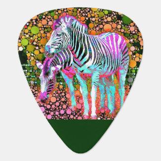 Zebra Pop Art Guitar Picks Pick