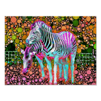 Zebra Pop Art Poster
