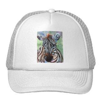Zebra Portrait ACEO Hat