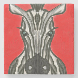 Zebra Portrait Stone Coaster