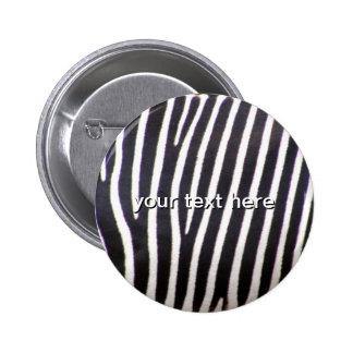 Zebra Print 2 Inch Round Button