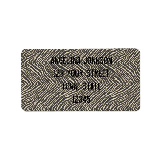 Zebra Print Address Label