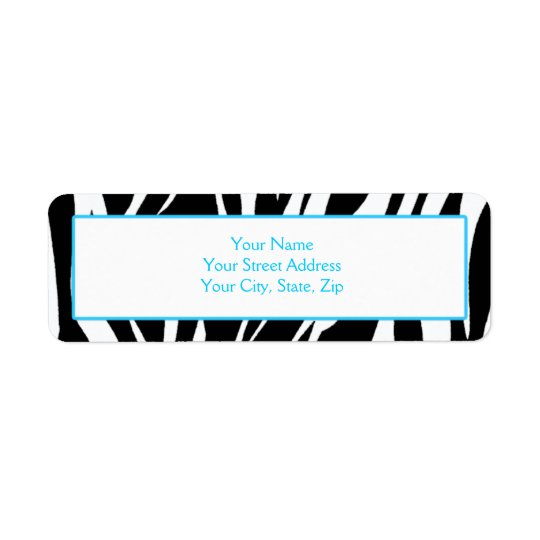 Zebra Print Address Labels