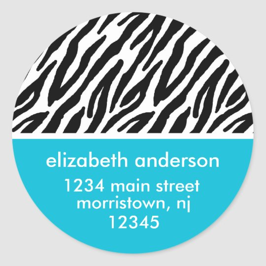Zebra Print Address Labels