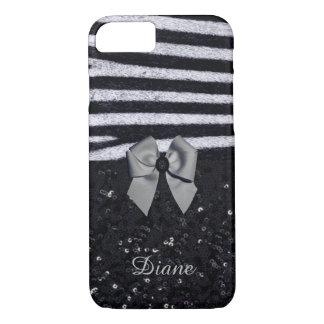 Zebra Print and Glitters iPhone 8/7 Case