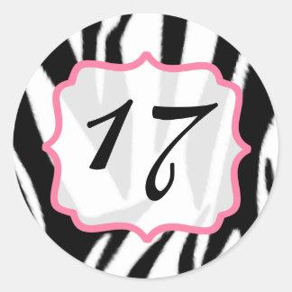 Zebra Print and Pink  Birthday Sticker