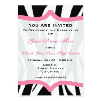 Zebra Print and Pink Class of 2011 Graduation Card