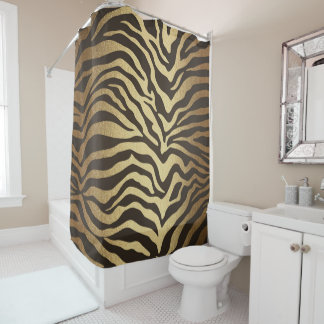 Zebra Print Animal Skin Print Modern Glam Gold