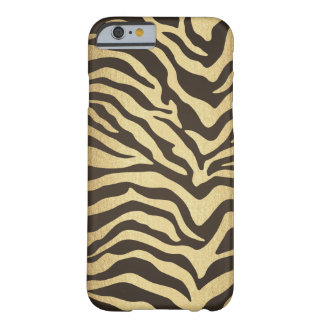 Zebra Print Animal Skin Print Modern Glam Gold Barely There iPhone 6 Case