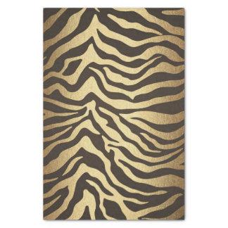 Zebra Print Animal Skins Gold Glam Chic Tissue Paper
