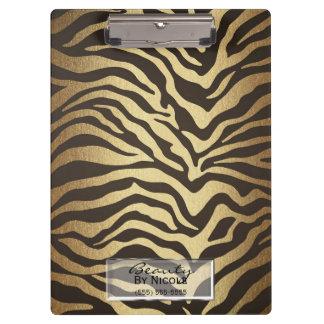 Zebra Print Animal Skins Skin Modern Glam Clipboard