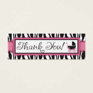 Zebra Print & Baby Carriage Gift Tag