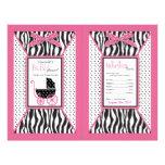Zebra Print & Baby Carriage Popcorn Wrapper