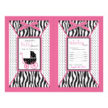Zebra Print & Baby Carriage Popcorn Wrapper Full Color Flyer