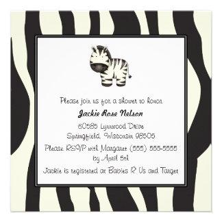Zebra Print Baby Shower Invites