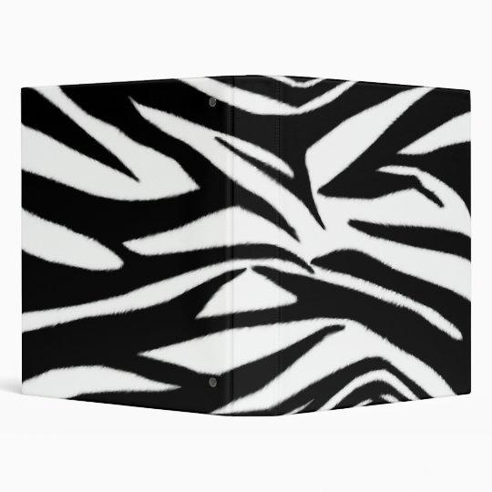 Zebra print Binder