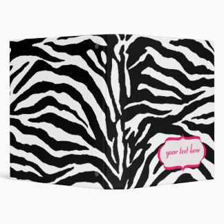 Zebra print binders