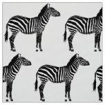 Zebra Print - Black and White Fabric