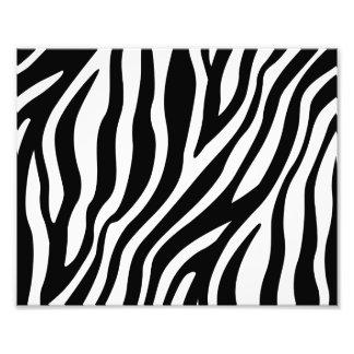 Zebra Print Black And White Stripes Pattern