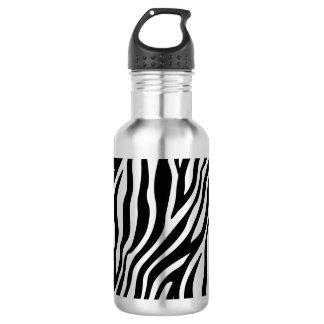 Zebra Print Black And White Stripes Pattern 532 Ml Water Bottle