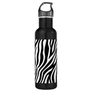 Zebra Print Black And White Stripes Pattern 710 Ml Water Bottle