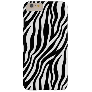 Zebra Print Black And White Stripes Pattern Barely There iPhone 6 Plus Case