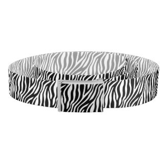 Zebra Print Black And White Stripes Pattern Belt