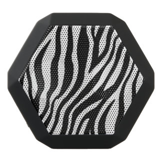 Zebra Print Black And White Stripes Pattern Black Bluetooth Speaker