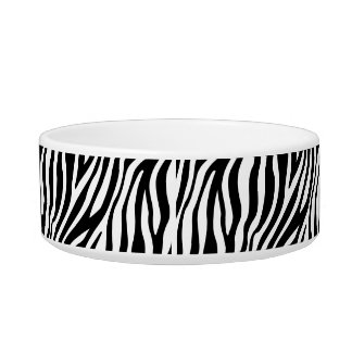 Zebra Print Black And White Stripes Pattern Bowl