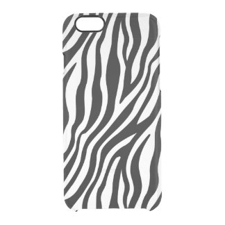 Zebra Print Black And White Stripes Pattern Clear iPhone 6/6S Case