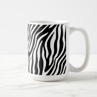 Zebra Print Black And White Stripes Pattern Coffee Mug